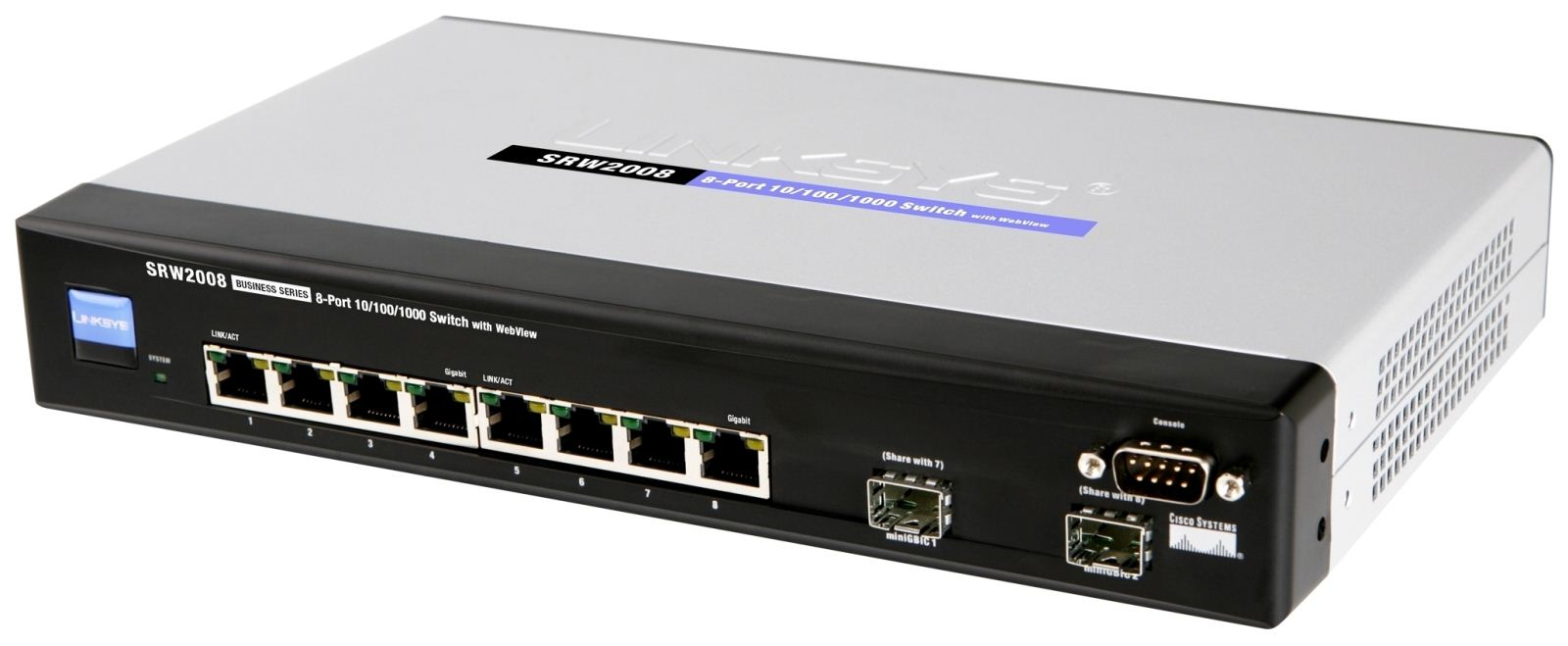 Cisco SRW2008, 8 port Gigabit Switch   WebView