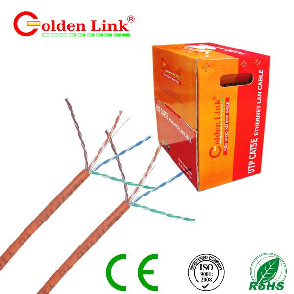 Dây cáp mạng Golden Link - 4 pair (UTP Cat 5e) màu cam