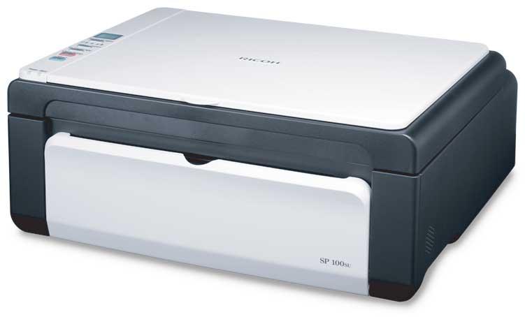 Máy in Ricoh SP 100SU, In, Scan, Copy, Laser trắng đen