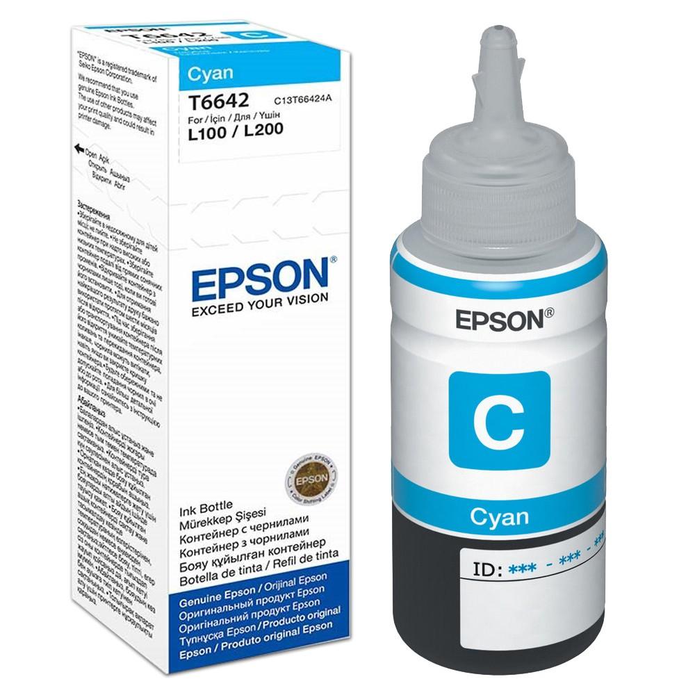 Mực in Epson T6642 Cyan Ink Tank (T664200)