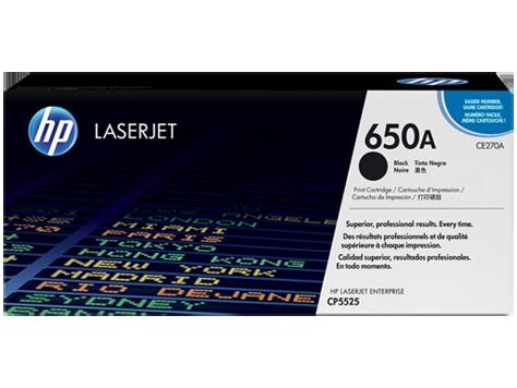 Mực in HP 650A Black LaserJet Toner Cartridge (CE270A)