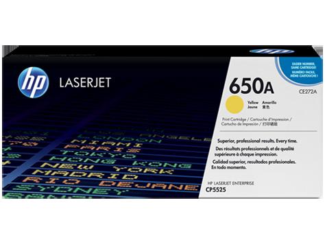 Mực in HP 650A Yellow LaserJet Toner Cartridge (CE272A)